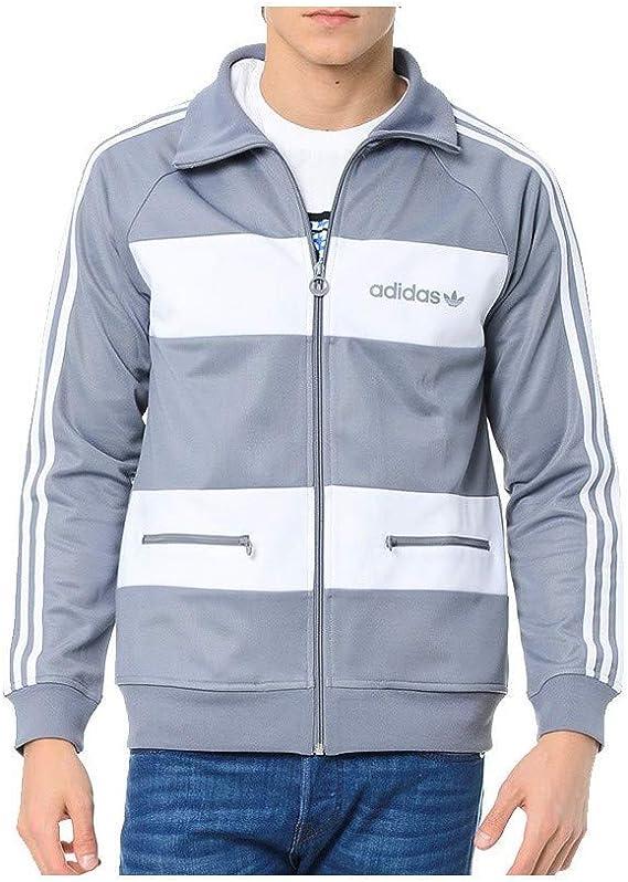 adidas Veste Beckenbauer TT Gris Homme: : Vêtements