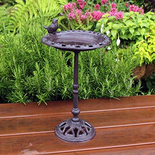 Natures Market BFCAST1Bain d'oiseau en fonte sur pied, Transparent, 22,3x 29x 6,2cm Bonningtons