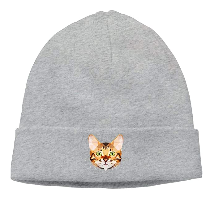 ded3535e9 nordic runes Bengal Cat Beanie Hat Winter Warm Knit Skull Cap for ...