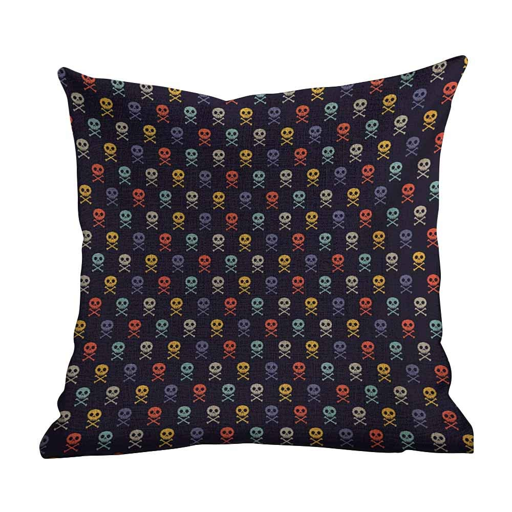 Amazon.com: Cute Pillowcase Pixel Art,Skull with Bones ...
