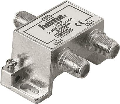Hama Sat 1F/2F - Distribuidor de Antena (2 vías, Cuerpo ...