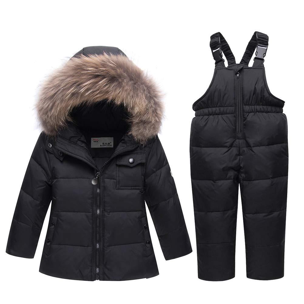 ARAUS Snowsuit da Unisex Bambini Tuta da Sci Piumino Trapuntato + Salopette 2 Pezzi Tutone Inverno 4-13 Anni 0670P10