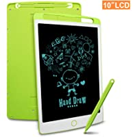 Richgv LCD Writing Tablet, 10 Inch Electronic Drawing Board Graphic Tablets with Memory Lock, Handwriting Paperless Notepad Suitable for Home Job School Office Blackboard (Green)