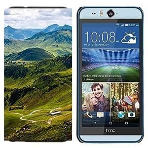 TECHCASE---Cubierta de la caja de protección para la piel dura ** HTC Desire Eye ( M910x ) ** --Sunset Beautiful Nature 78