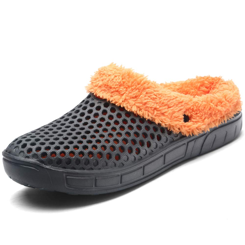BIGU Mules Clogs Slip On Garden Shoes Fur Lined Indoor Outdoor Walking Warm Winter Slipper House Shoes