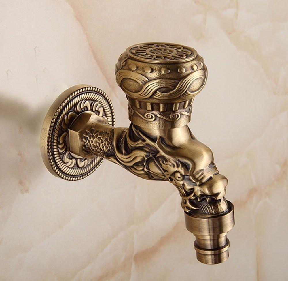 Grifo de lavabo para fregadero con caño giratorio grifo de lavabo Latón Cromado Elegante Agua Caliente y Fría Estilo retro europeo,cobre,alargado,lavadora grifo,3