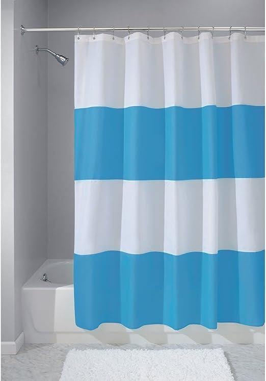InterDesign Mildew-Free Water-Repellent Shower Curtain 72-Inch by 72-Inch,White