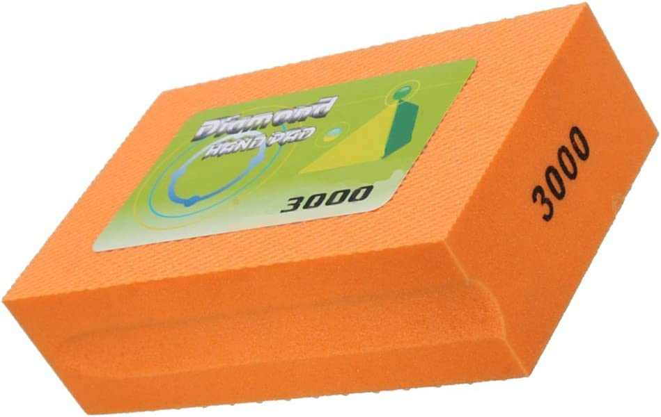 400 Grit MagiDeal Brique de Polissage /à Diamant Polishing Block pour Polir Marbre Pierre Carrelage B/éton Jaune