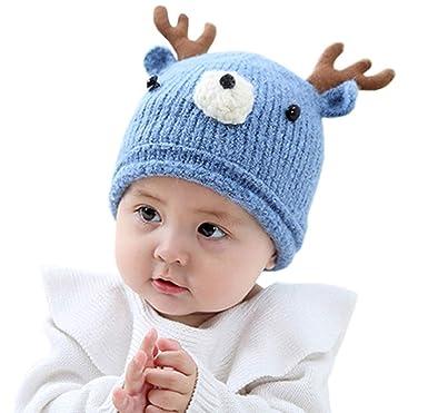 20e87582 LANDGOO Baby Winter Hat Warm Elk Ears Beanie Knit Hat Kids Cute Skull Caps,  Beanies