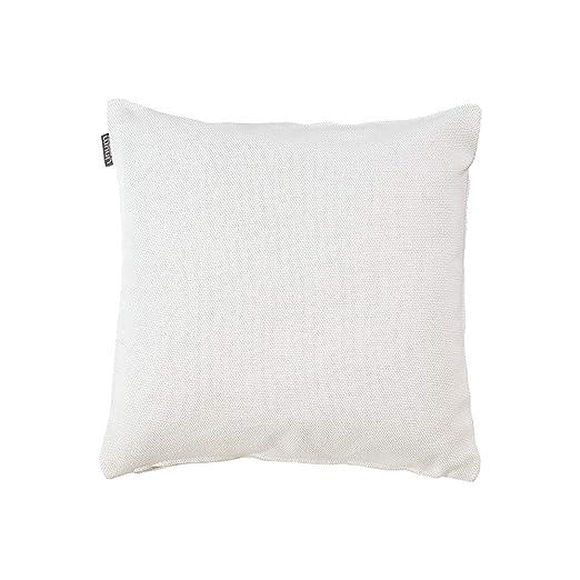 Funda de cojín de Lino, algodón, Color Blanco, 40 x 40 x 0 ...