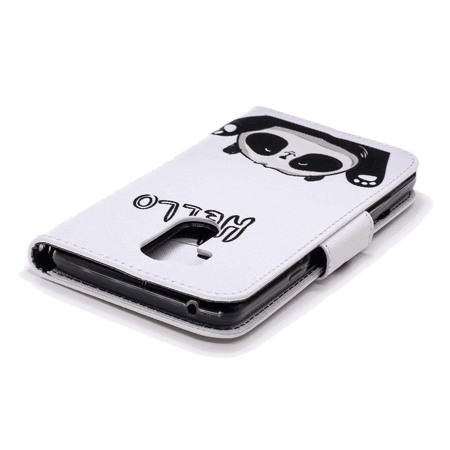 Cover for iPhone X Leather Kickstand Card Holders Mobile Phone Cover Extra-Durable Business with Free iPhone X Flip Case