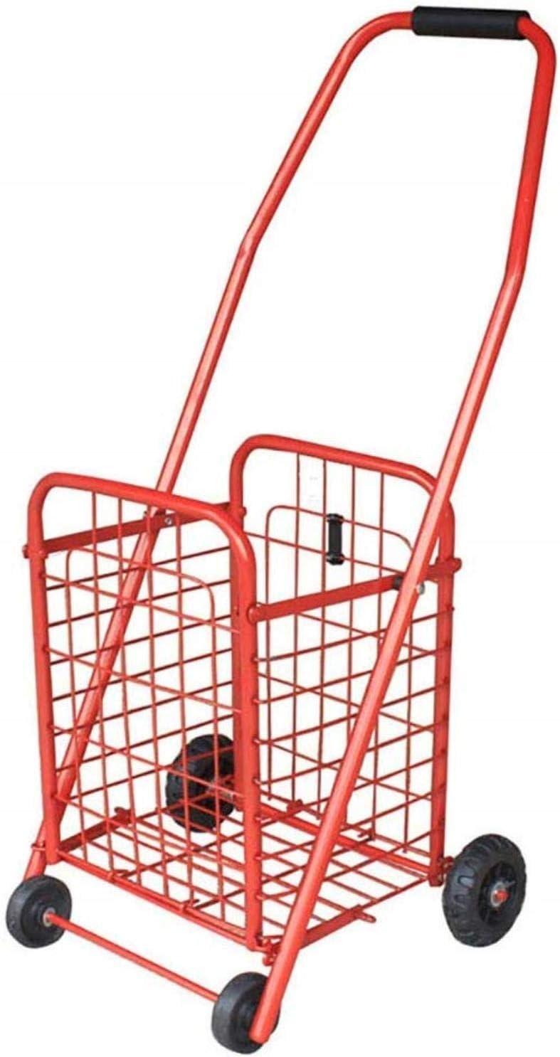 BZrybh Portátiles plegables ancianos pequeño remolque carro coche que sube cesta de la compra Carros de luz de comestibles carros prácticos carros de la compra plegable Escaleras 26x24x76cm Hogar, Air