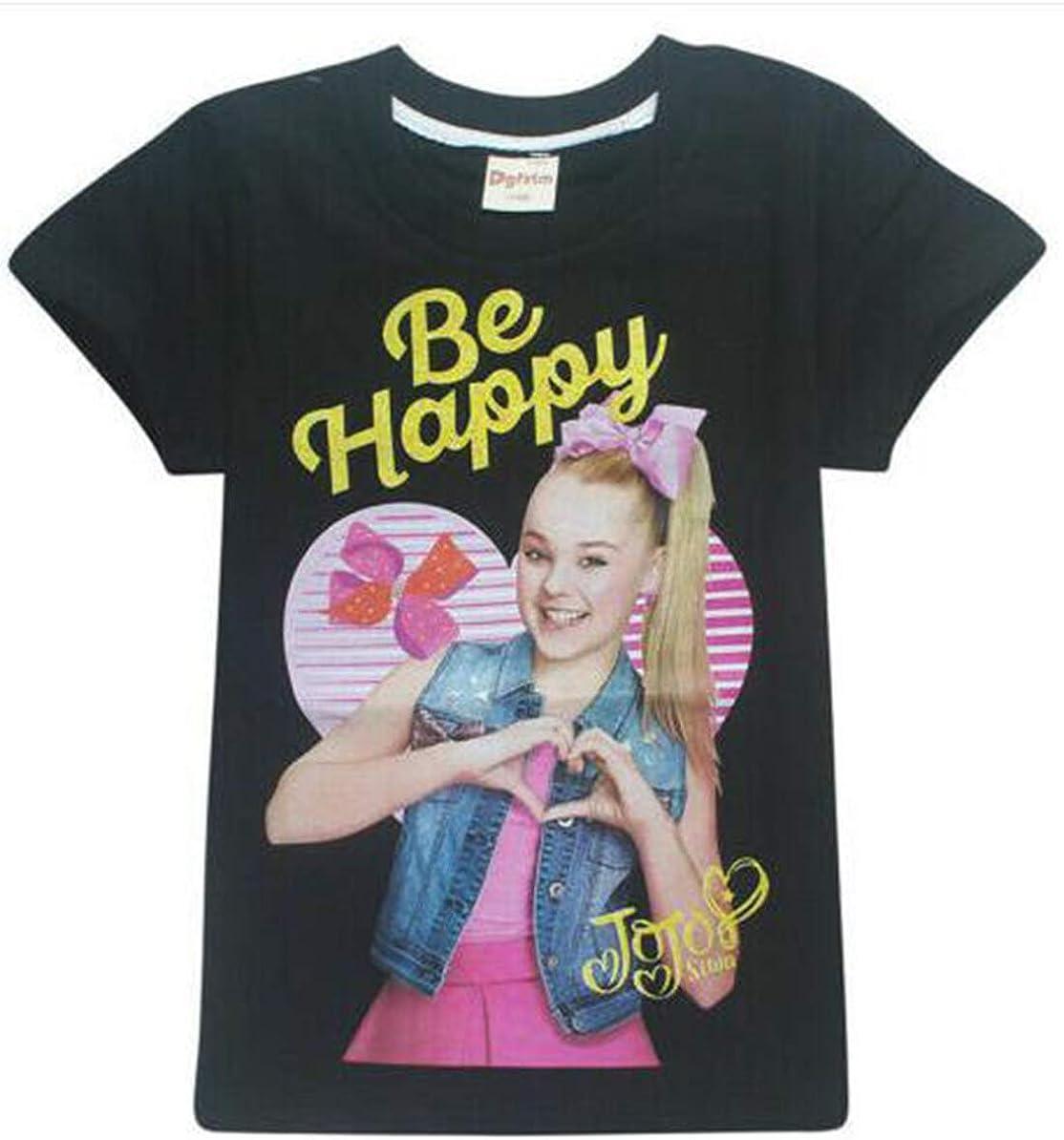 Kidskingdom Belpashe Jojo Siwa Printed Kids Girls T Shirt Summer Cotton Tops for Age 3-12Y