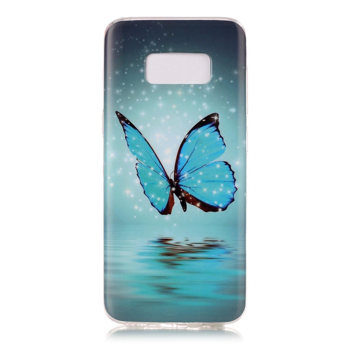Elegante Luminous Effect TPU Suave Silic/ón Gel de Alta Resistencia y Flexibilidad Anti-ara/ñazos y Mariposa OnlyCase Funda para Samsung Galaxy S8