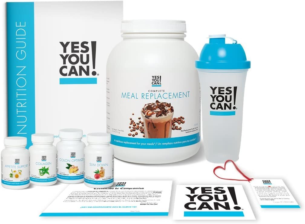Yes You Can! Transform Kit: On-The-Go 30 Servings, Once a Day, Contains: One Complete Meal Replacement Coffee, One Slim Down, One Appetite Support, One Collagen, One Colon Optimizer, One Shaker