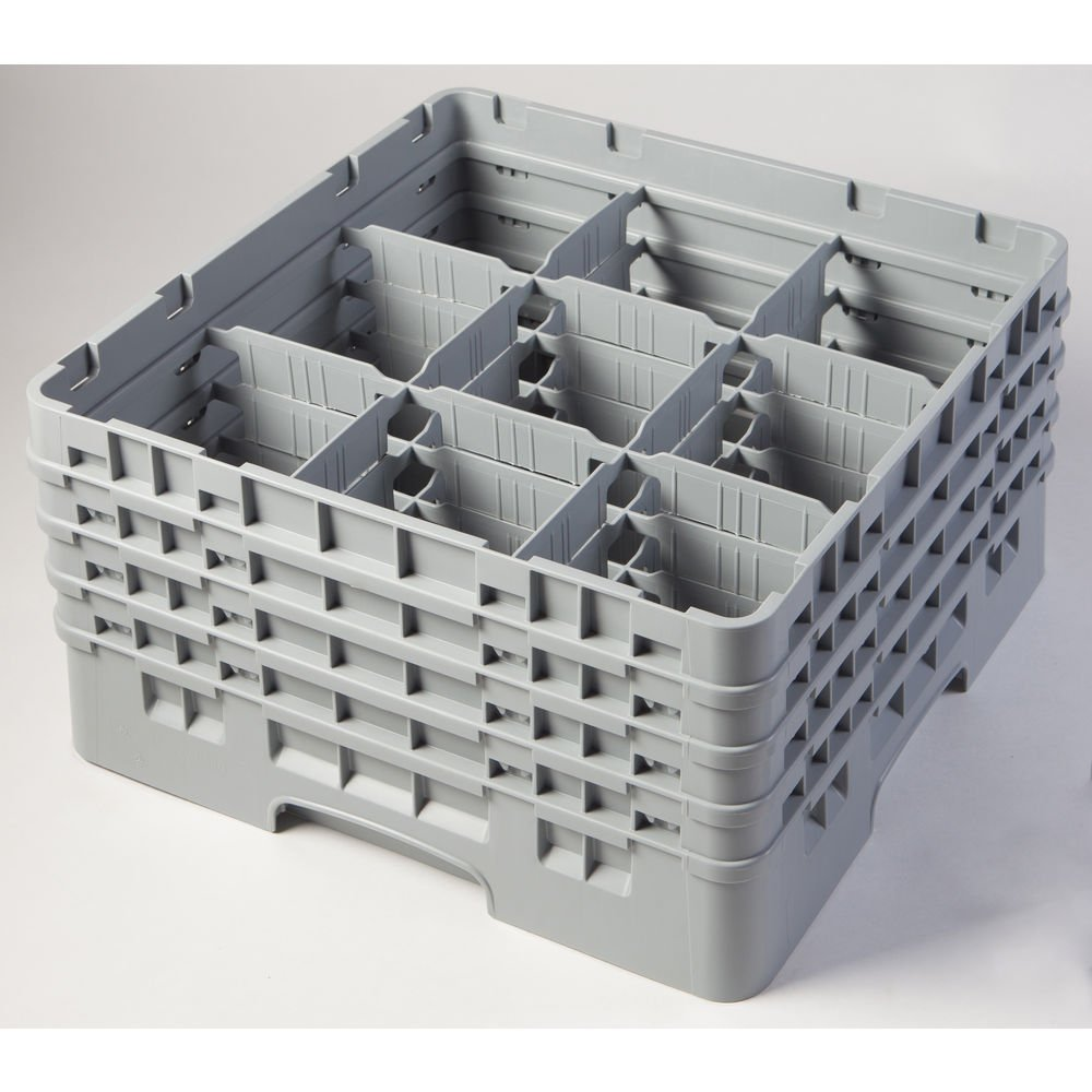 Cambro 9 Compartment Camrack 8 1/2'' Sherwood Green