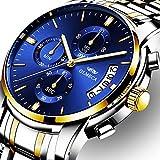 OLMECA Men's Watches Luxury Wristwatches Rhinestone Watches Waterproof Fashion Quartz Watches Stainless Steel Black Watch 0826-JKLMgd