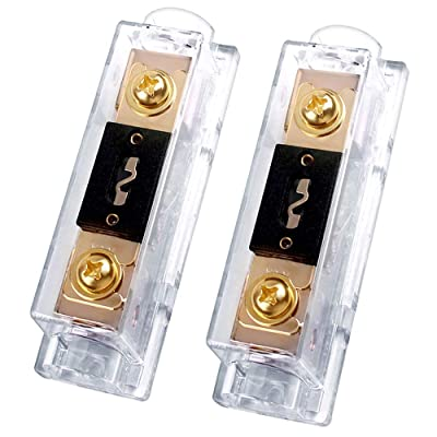 300A ANL Fuse Holder, 300 amp 0/2/4 Gauge AWG Inline ANL Fuse Block with 300 Amp Fuse for Car Audio Amplifier (2 Pack): Car Electronics