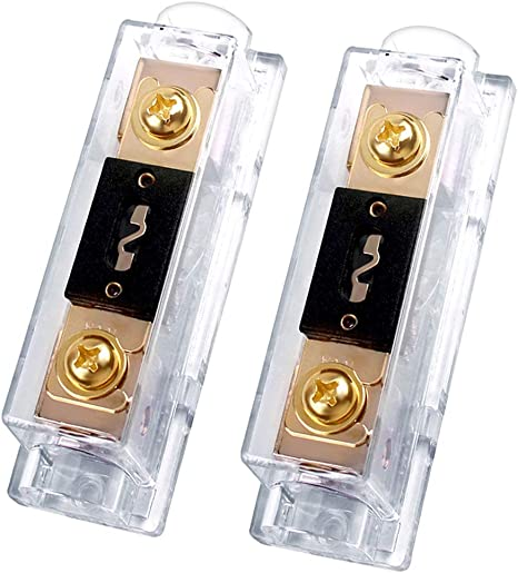 InstallGear 0//2//4 Gauge AWG In-Line ANL Fuse Holder with 250 Amp Fuse 250A