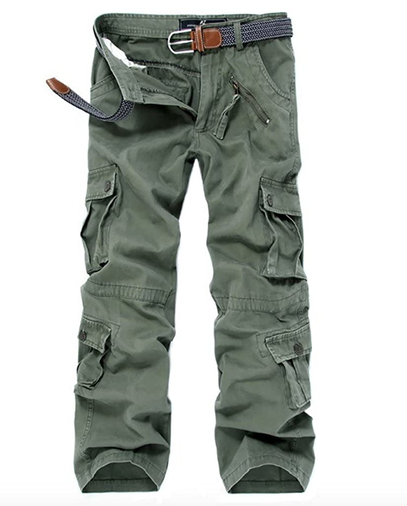 WSLCN Mens Cargo Work Trousers Multipockets Military Combat Pants AW-022