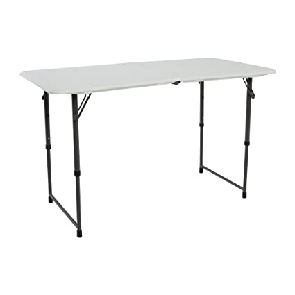 Redstone Folding Table 4ft with 3 x Adjustable Heights and Metal Securing Bolts