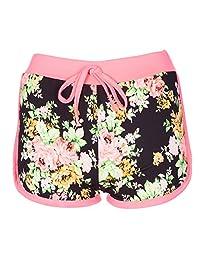 Noroze Girls Kids Summer Floral Print Hot Pants Casual Shorts