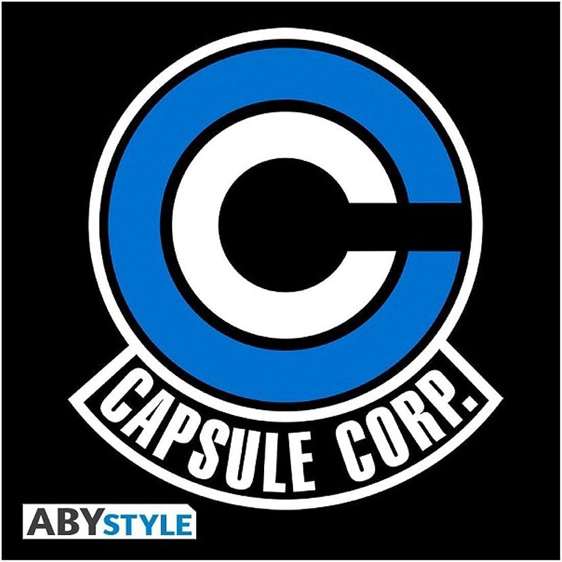 /Tshirt Db//Capsule Corp Uomo MC Black ABYstyle Dragon Ball/