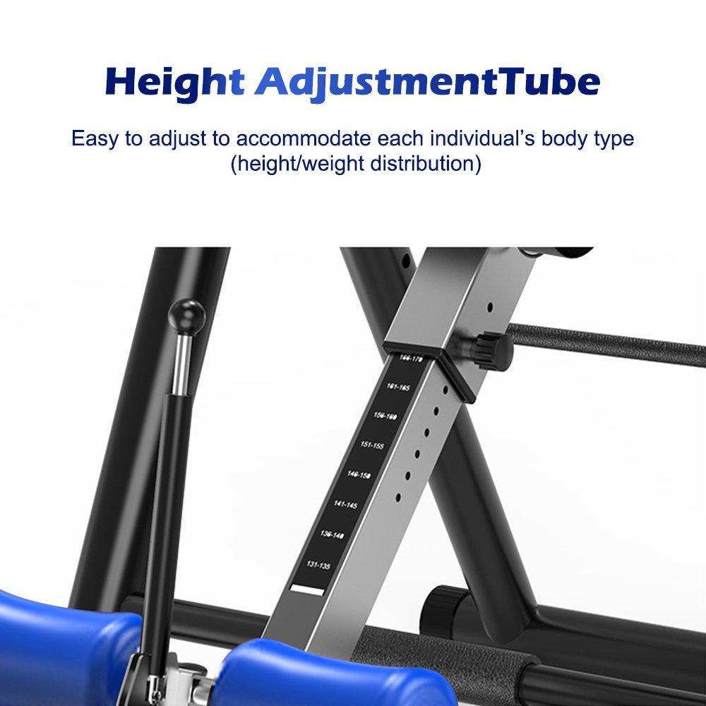 Yoleo Gravity Heavy Duty Inversion Table with Adjustable Headrest & Protective Belt (Blue) by Yoleo (Image #7)