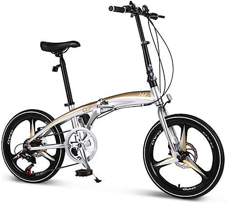 AOHMG Bici Plegable Adulto Bicicleta Plegable, desviador de 7 ...