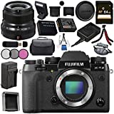 Fujifilm X-T2 Mirrorless Digital Camera (Body Only) 16519247 + Fujifilm XF 23mm f/2 R WR Lens (Black) 16523169 Bundle