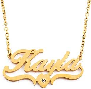 Kayla - Collar con Nombre Personalizable en Forma de