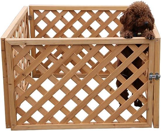 YXZQ Parque para Perros Heavy Duty, casa de Valla portátil Grande para Mascotas con Puerta, jardín Interior al Aire Libre, 4 Paneles, 90× 90× 60cm: Amazon.es: Hogar