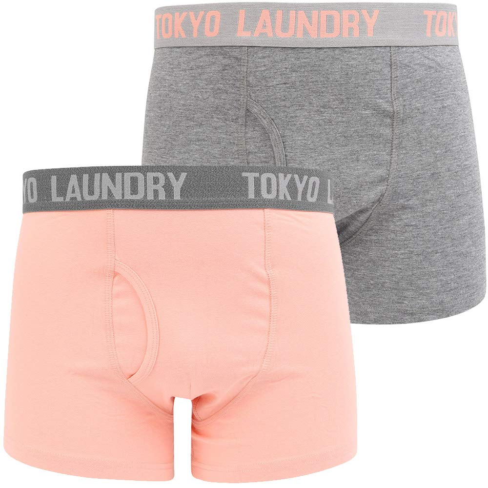 Tokyo Laundry Mens Designer Contrast Bright Colour 2 Pack Boxer Shorts Trunks