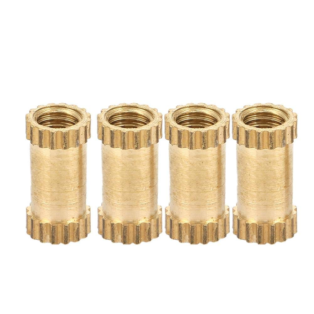 50Pcs M3 B Type Blind Hole Single Pass Inserts Molded-in Insert Nut Brass Knurled Threaded Embedment Nuts Hardware Connection(M3*8) Garosa