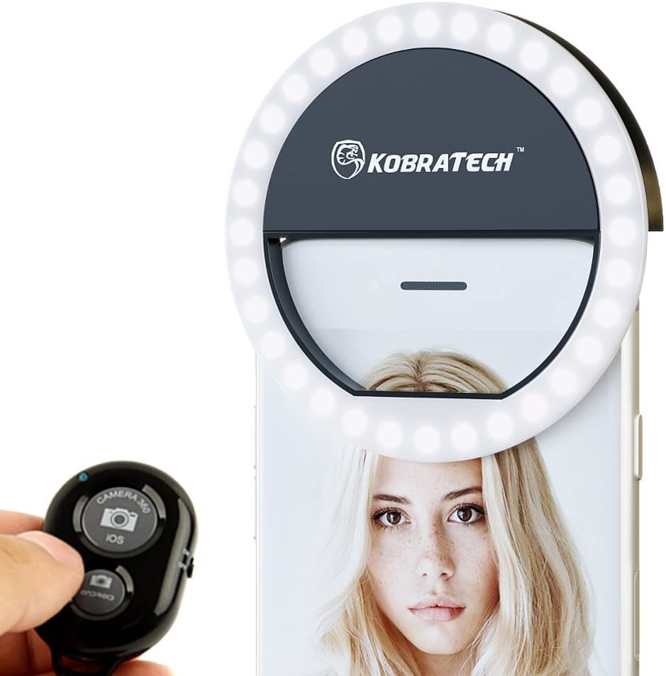 KobraTech Selfie Ring Light with Remote shutter