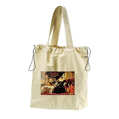 A Talbot Countess Shrewsbury (Rubens) Canvas Drawstring Beach Tote Bag