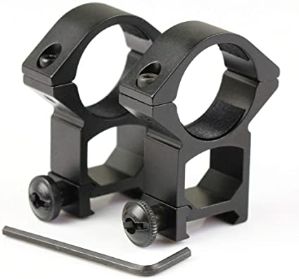 2pcs Rifle Tactical Low Profile 30mm Scope Rings Weaver//Picatinny Rail Mount