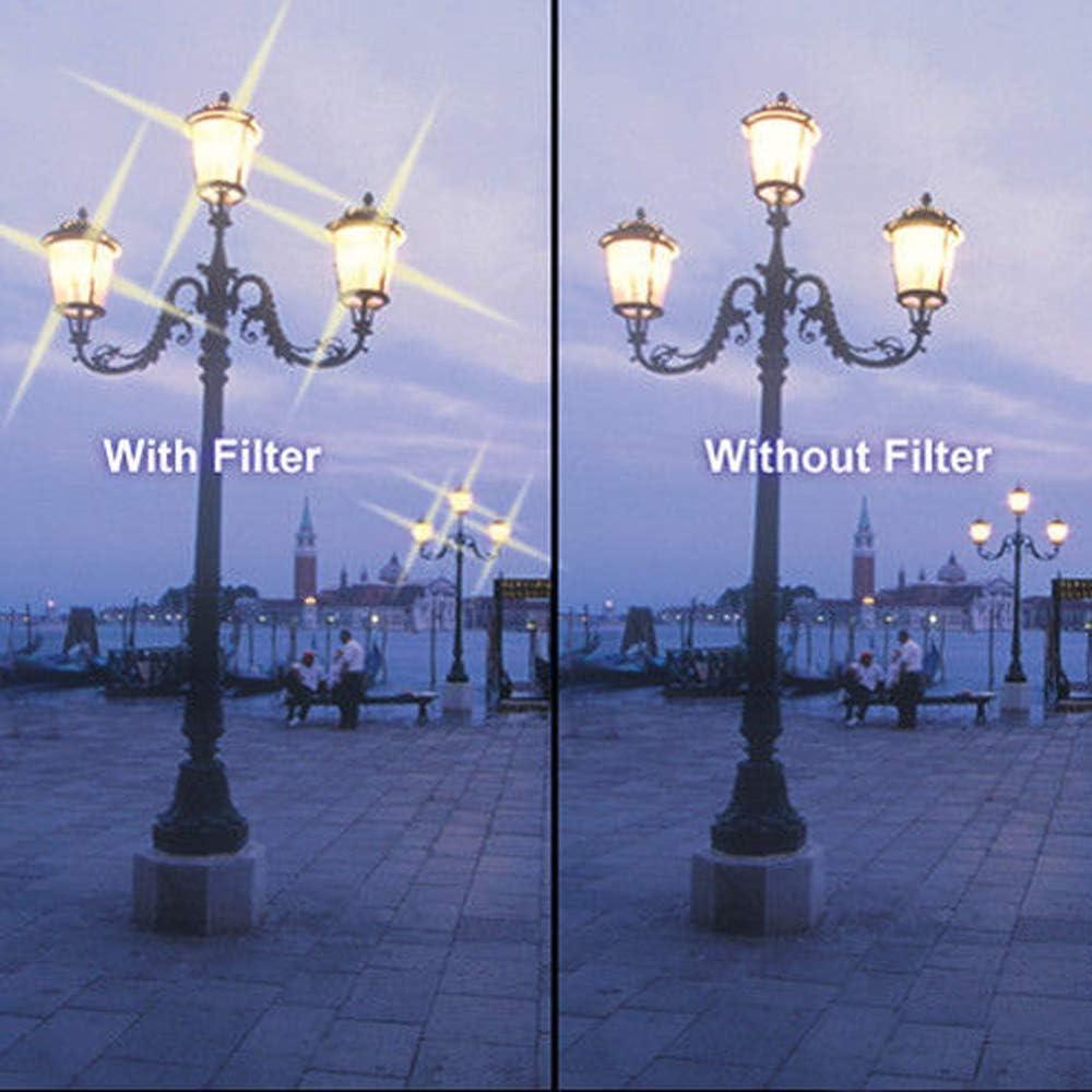 40.5mm 8 Points Adjustable Star Filter Starburst Cross Star Filter Market/&YCY 3 Piece Set Ultra fine Star Effect Filter 4 6