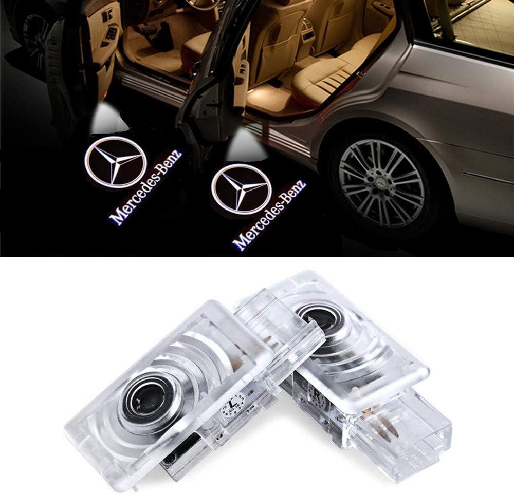 QJZoncuji 2 Xvoiture de porte Logo /Éclairage LED Entr/ée /Éclairage HD voiture Porte lumi/ère For LLao E