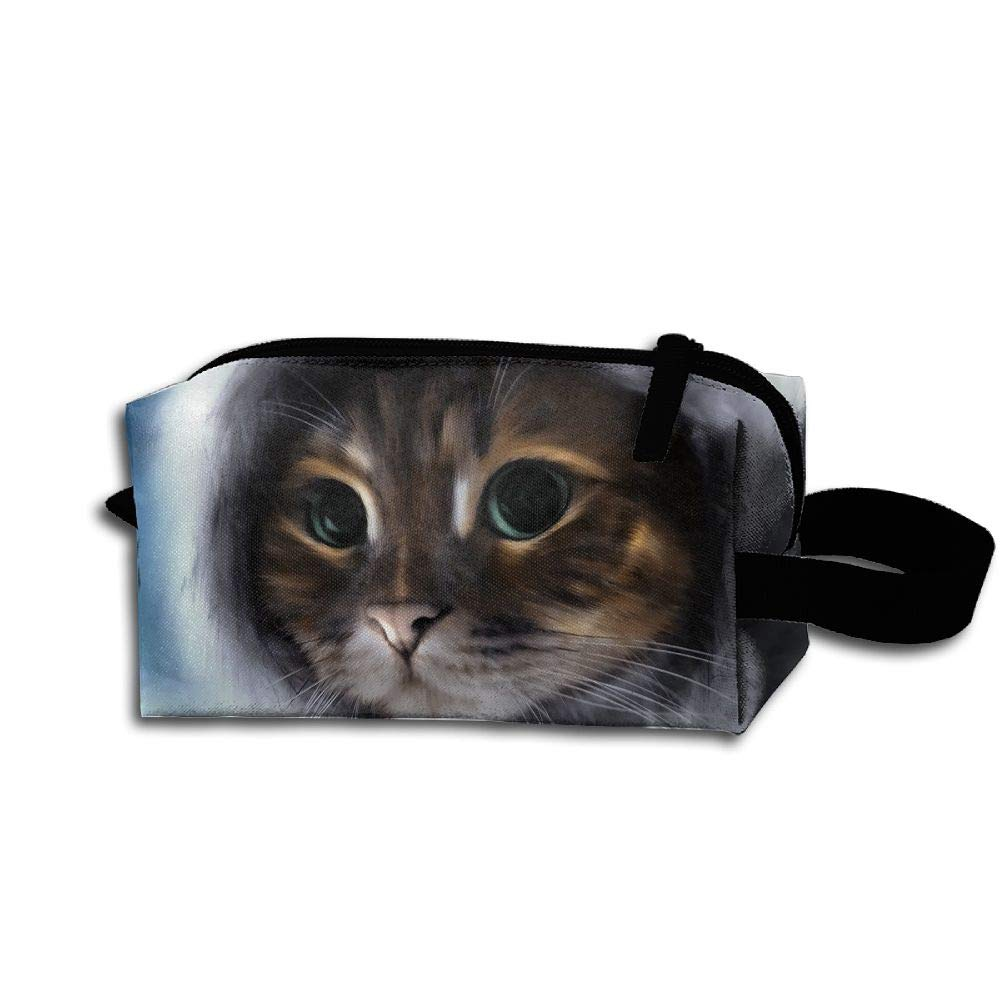 Makeup Cosmetic Bag Animals Cat Painting Medicine Bag Zip Travel Portable Storage Pouch For Mens Womens