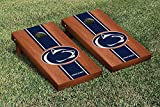 Penn State PSU Nittany Lions Cornhole Game Set Rosewood Stained Stripe Version