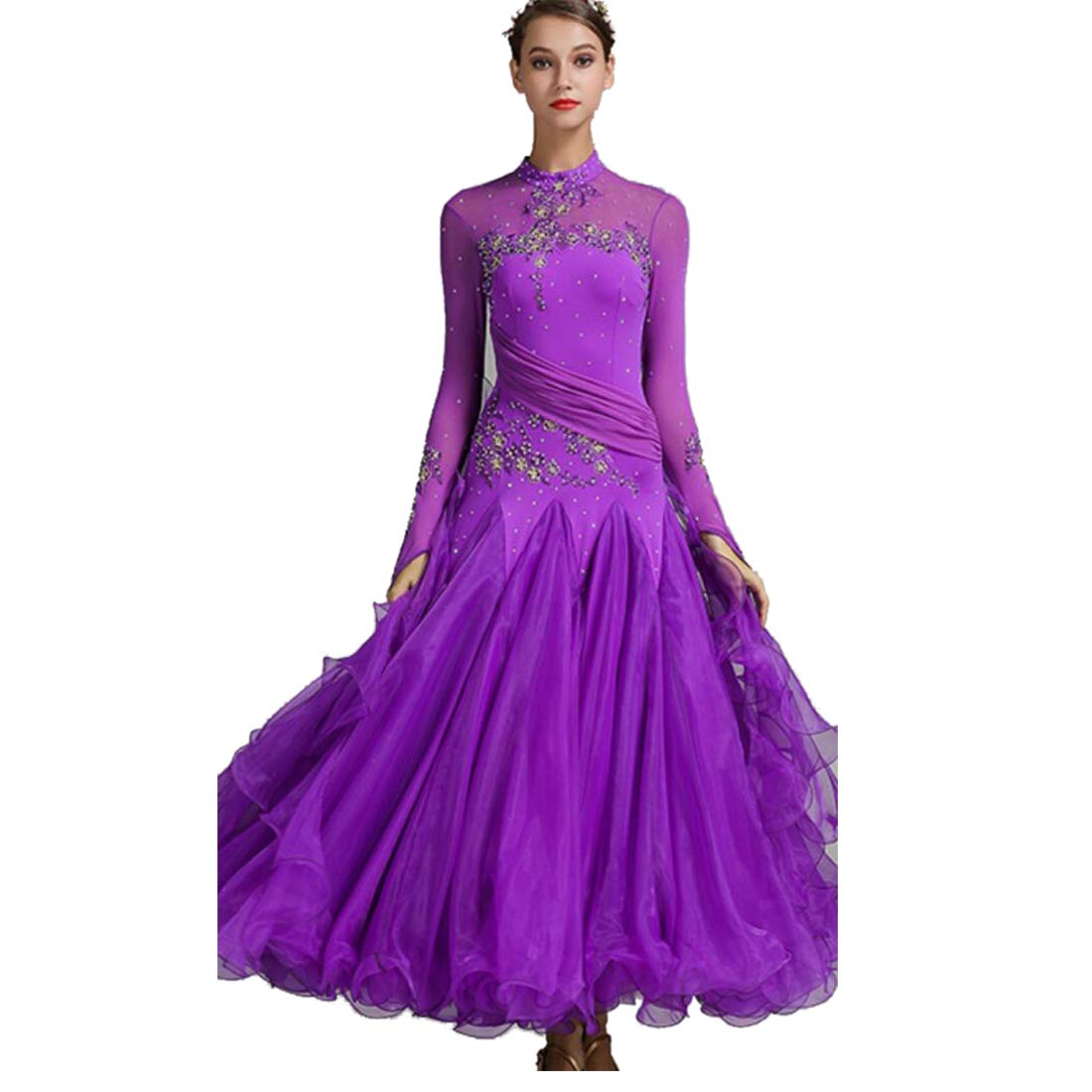 I XL SMACO Femmes Modernes Valse Tango Danse VêteHommests Standard Robes de Concours de Danse de Salon