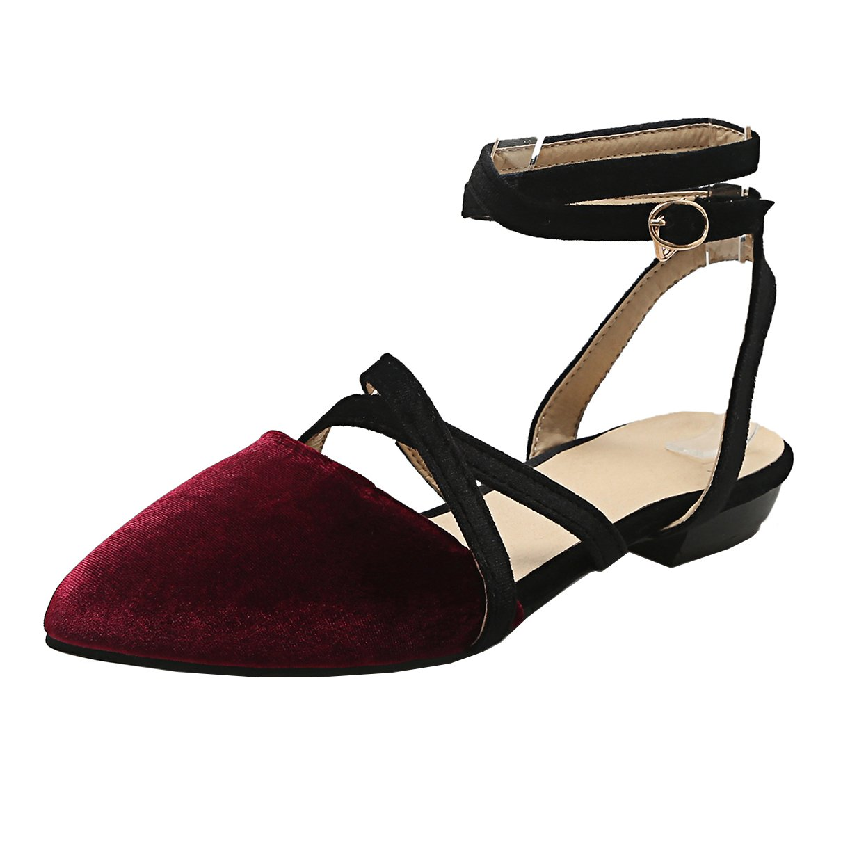 JYshoes , B00MY4MVGQ Coupe , JYshoes Fermées Femme Rouge d2f92bb - reprogrammed.space