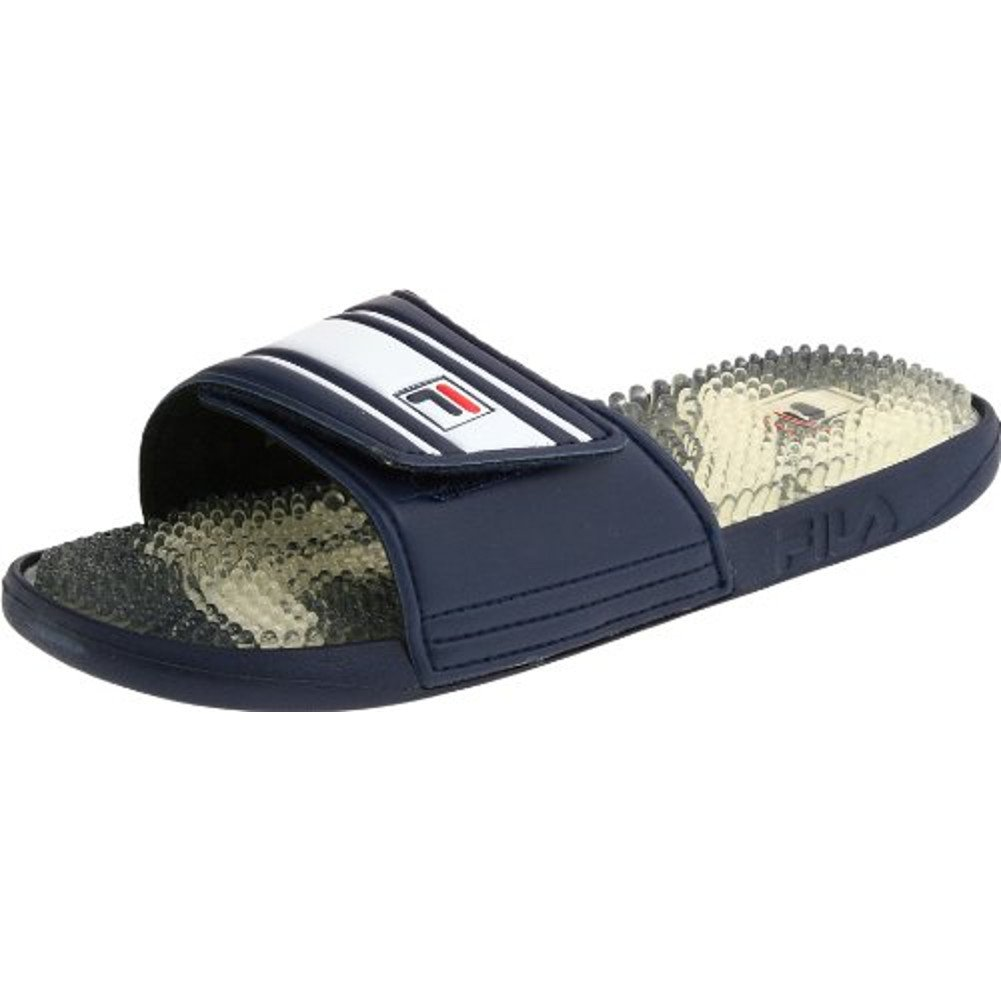 9cd50eab6aac Fila Men s Massaggio Rubber Navy Slippers Sandals