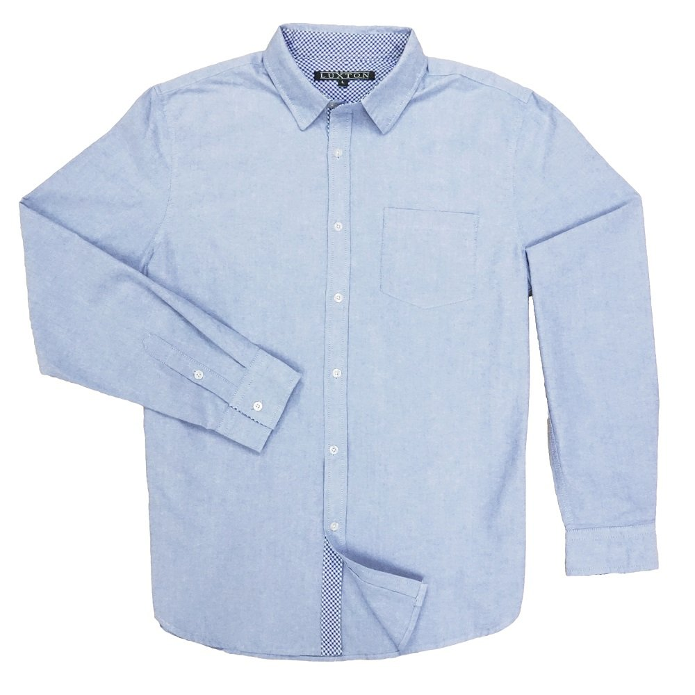 Luxton Oxford Shirt Thick Blue X Small At Amazon Mens Clothing