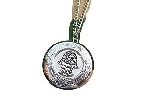 Small Hamsa Locket Necklace,Hand of Fatima, Locket Necklace, Hamsa Charm Locket