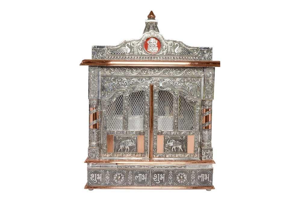 Movie Time Vdieo 59065-DM Hindu Puja Mandir/Temple/Alter, Aluminum Plated with Doors