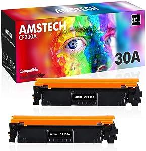 Amstech Compatible Toner Cartridge Replacement for HP 30A CF230A 30X CF230X HP M203dw M227fdw Toner HP Laserjet Pro M203dw M227fdw M227fdn M203dn M203d M227d M227sdn M203 Ink Printer (Black, 2-Pack)