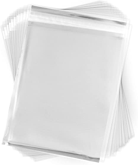 "Cellophane Film Sheets 9-3//4/"" x 2/"" 100 Pieces 2 mil Clear Plastic Cello Strips"