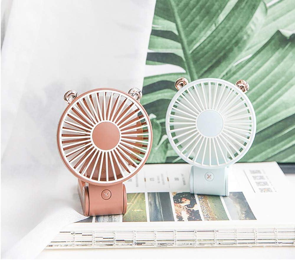 YJYdada Mini Fan Mini-USB Rechargeable Hand-held Electric Fan Folding Portable Desk Fan Blue
